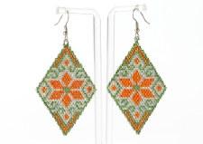 Suzy Kies: Silver Orange Woodlands Earring