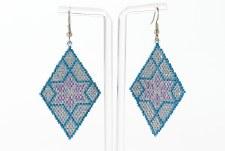 Suzy Kies: Silver Blue Woodlands Earring