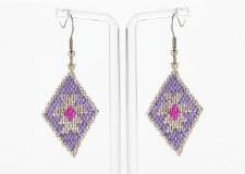 Suzy Kies: Lavender Silver Sacred Geometry Earring