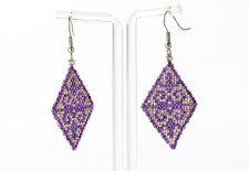 Suzy Kies: Purple Silver Sacred Geometry Earring