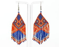 Suzy Kies: Blue Orange Woodlands Dangle Earring