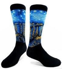 Vincent Van Gogh: Starry Rhone Socks
