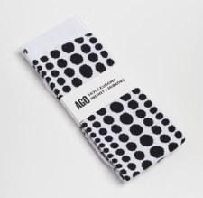 Yayoi Kusama Sock: White / Black Dots