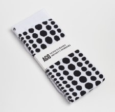 Yayoi Kusama: White with Black Dots Sock