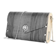 Sol Designs: Dark Grey Vinyl Handbag
