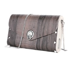 Sol Designs: Walnut Vinyl Handbag