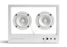 Transparent Speaker: White