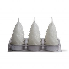 Spruce Tealight Candles - White