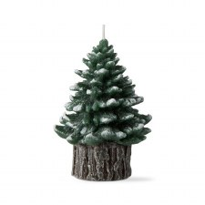 Spruce Rustic Tree Candle - Small Green
