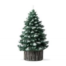 Spruce Rustic Tree Candle - Medium Green