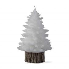Spruce Rustic Tree Candle - Medium White