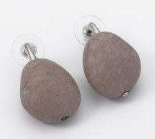 Two A: Stone Resin Earrings - Brown