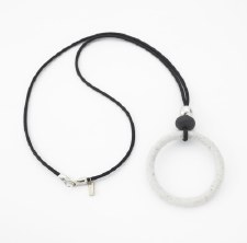 Two A: Resin Circle Silver Necklace
