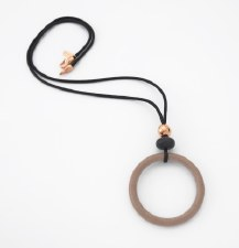 Two A: Resin Circle Rose Gold Necklace