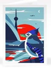 Masked Blue-Jay - Notecard