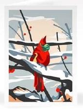 Masked Cardinal - Notecard