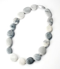 Uta Ottmar: Grey Pebble Necklace
