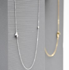 Necklace - Tri In Loop Polished Gold
