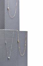 Necklace - Dices In Loop Polished Gold