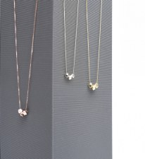 Necklace - Dazzling Dices Polished Rose Gold