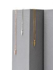 Necklace - Dart Polished Rose Gold