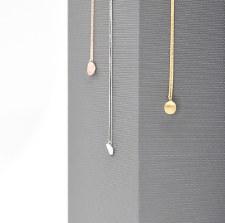 Necklace - Petite Curl Dot Brushed Rose Gold