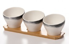 Petite Bowls With Wooden Board
