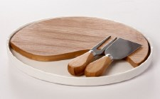 Cheese Board with Knife and Fork