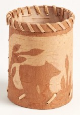 Birch Bark Vessel - Bear