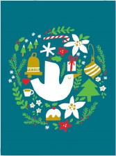 Dove and Wreath - Holiday Cards