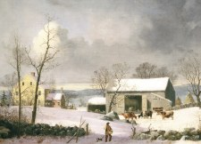 George Henry Durrie, Winter in the Country - Holiday Cards
