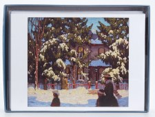 Holiday Notecards  AGO  Collection: Lawren S. Harris, Winter Afternoon Toronto