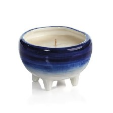 Zodax Blue Ombre Footed Candle