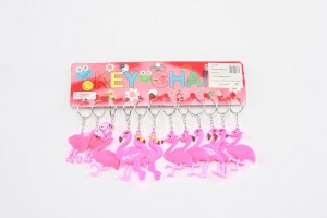 12Pk Flamingo Keyrings