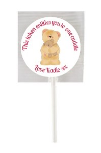 15Pk Bear Cuddles Lollipops