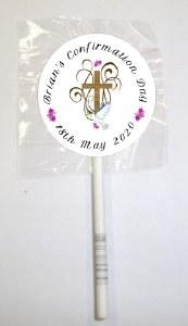 15Pk Girl Cross Lollipops