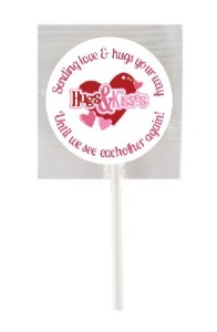 15Pk Hugs & Kisses Lollipops