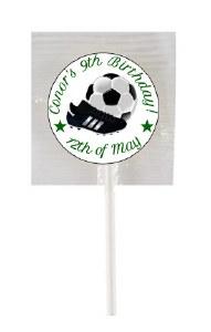 15PK Birthday Soccer Lollipops
