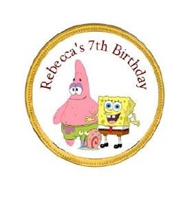 15Pk Spongebob Chocolate Coins