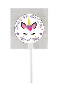 15PK Birthday Unicorn Lollipop