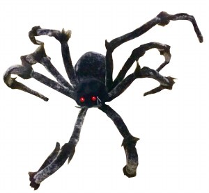 170cm Black And Grey Spider