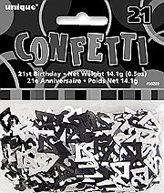 21st Black Confetti