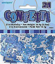 21th Blue Confetti