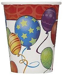 Birthday Balloon Paper Cups