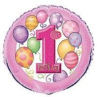 First Birthday Foil Balloon