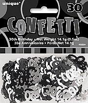 30th Black Confetti