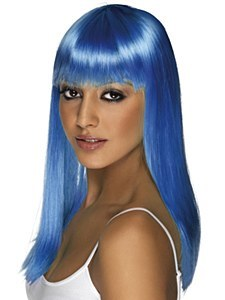 Glamourama Neon Blue Wig