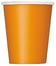 Pumpkin Orange Paper Cups