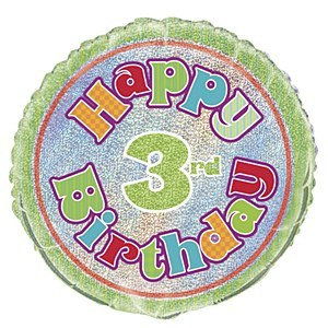 3rd Birthday Foil Balloon