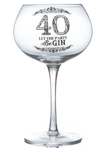 40th Gin Glass